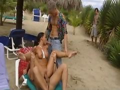 Beach, Anal, Assfucking, Beach, Big Tits, Brunette