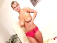Young Busty Girl Doing Blowjob