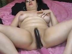 Brunette MILF nailed by the machine