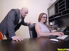 Brooke Beretta is an insatiable office worker in need of a dong