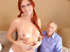 Zara Ryan Has Threesome With Grandpas