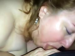 Chunky Milf Sucking A Much Younger Cock