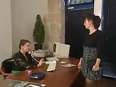 TWO MATURES FUCKED BY 2 HARD COCKS IN THE OFFICE