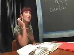 Shemal teacher fuck her male student