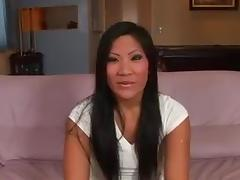 Christina Aguchi with the sloppy blowjob