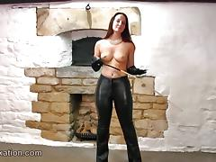 Leather, Babe, Boobs, Grinding, Leather, Topless