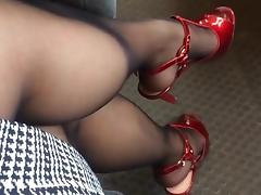 Bus, Bus, Nylon, Piercing, Riding, Stockings