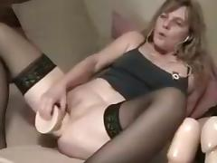 Huge dildo in ass milf