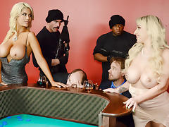 Bridgette B & Nina Kayy & Charles Dera & Prince Yashua in Blowing On Some Other Guys Dice - Brazzers