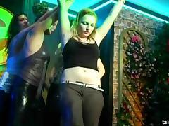 Dancing beauties fucking in the club