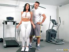 Gym, Blowjob, Fucking, Gym, MILF, Wife