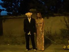Strange video of masked man and hot milf in public Krakenhot