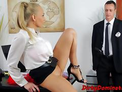 Femdom dominating slave with anal