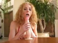 Hot blonde sucks   rides