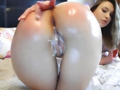 Cute butt anal dildo