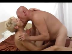 Granny fucks old bald