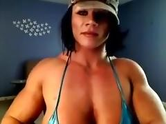 Sexy   woman muscle woman