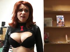 Watch this redhead cutie get absolutley pounded, and finish off with spidey getting all his senses touched