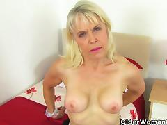 Older, British, Granny, Masturbation, Mature, Nylon