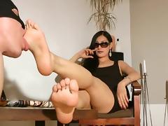 Feet, Brunette, Feet, Femdom