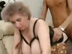 Crazy Homemade video with Grannies, Stockings scenes