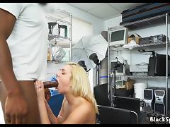Amateur Blonde fucks in audition