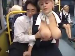 Amazing Homemade clip with Big Tits, Public scenes