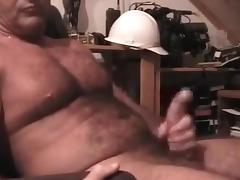 Sexy daddy carolina jim jerks off cum