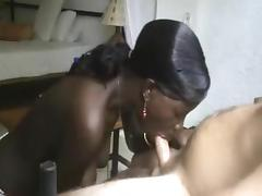 Black girl blows me, explosive cum in her mouth 2