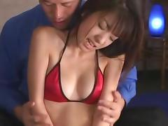 Incredible Japanese chick Yuuna Shiomi in Horny Lingerie, Doggy Style JAV movie