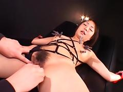 Exotic Japanese chick Mami Gotoh, Riho Matsuoka, Shizuku Tsukino in Fabulous Fetish, BDSM JAV movie