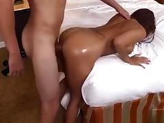 Latin chick brutally fucked from behind