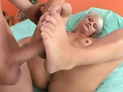 Sexy footjob with horny Tosh Locks