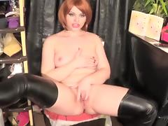 Little Hot Redhead Riding And Sloppy Bj A Big Cock
