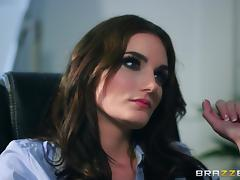 Office fuck session with stunning brunette Marie Clarence