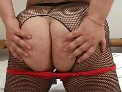 Curvy brunette Nicoletta shows off her body before masturbation