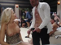 All, Babe, Blonde, Blowjob, Group, MILF