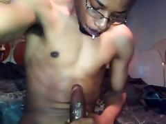 Sexually Frustrated Spitting stroking cum the D