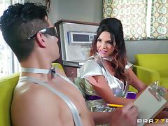 Spacey fuck with alluring brunette chick Missy Martinez