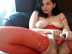 Exotic Homemade movie with Big Tits, Masturbation scenes