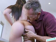 Old and Young, Babe, Blowjob, Handjob, Small Tits, Teen
