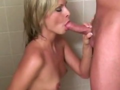Real amateur girlfriend greedily sucking cock