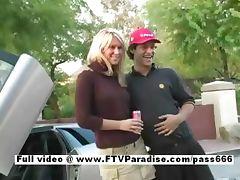 Vicki funny teen blonde flashing
