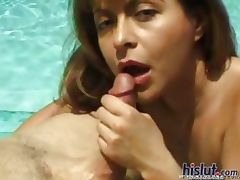 This slut sucks away porn video
