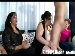 Cock crazy amateur girls at CFNM stripper party