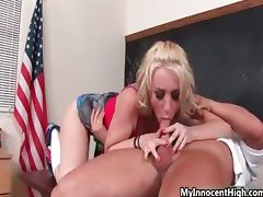 Cute blonde babe gets horny getting her part1 porn video