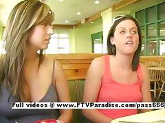 Shirley easy going teenage amateur brunette flashing