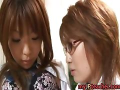 Hot Asian lesbians are teachers part2