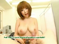 Rio Hamasaki superb japanese girl shows off her big boobs