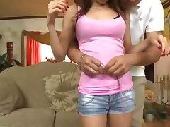 Asian teen petite slut strips down